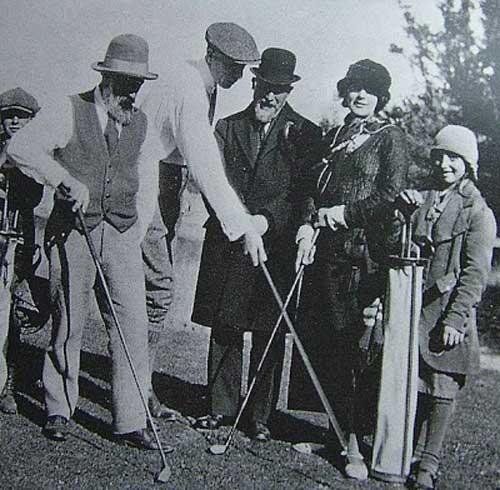 Brâncuși, un pasionat de golf…