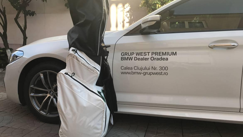 Experiența călătoriei la un concurs de golf cu noul BMW 520d – powered by BMW Grup West Premium Oradea