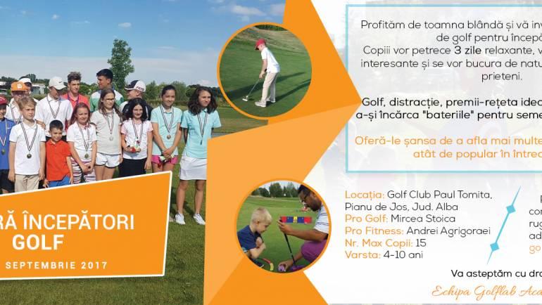 Tabăra GolfLab Academy pentru începători – SNAG Golf