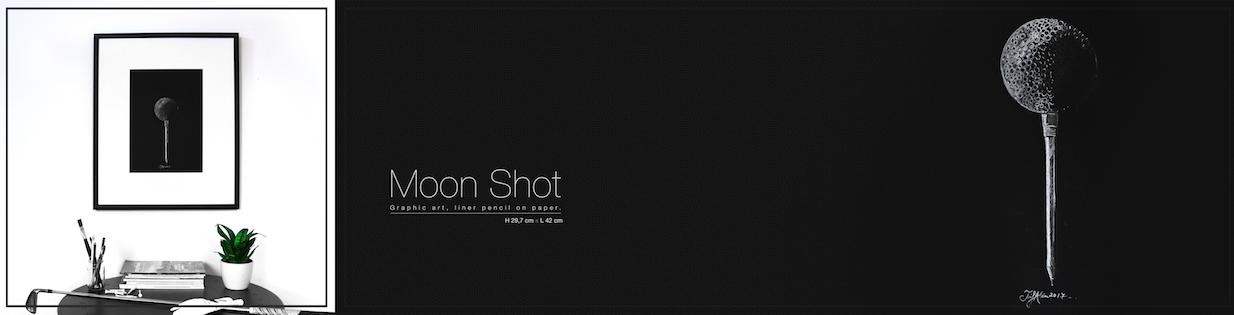 Moon Shot - GolfArt by Trif Alin