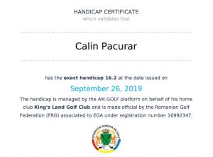 Confirmare hcp am.golf