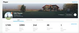 Statistici personale am.golf
