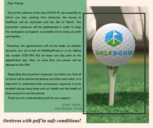 Comunicat GolfRoom golf in contextul covid19