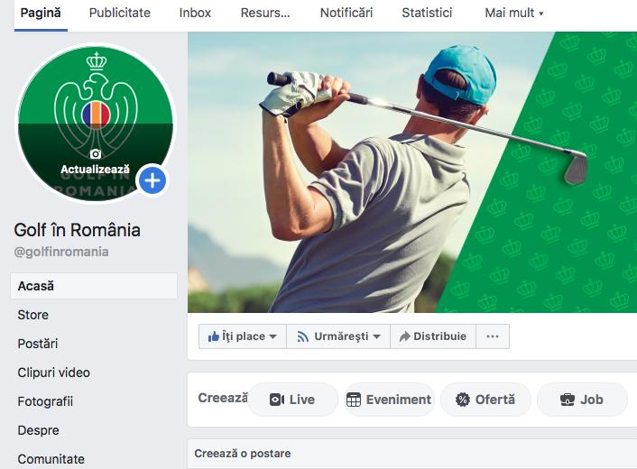 Cluburile de golf primesc acces la Facebook Golf in Romania